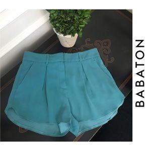 NWOT Babaton Teal Dress Shorts